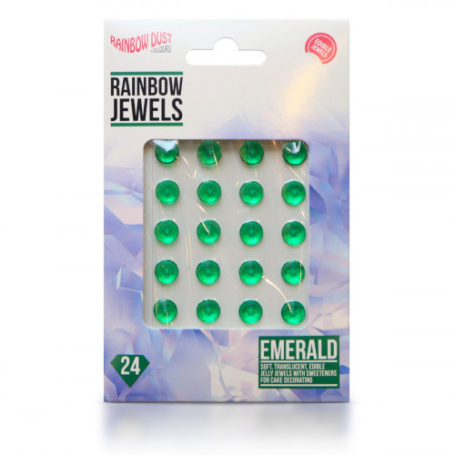Rainbow Dust Ätbara Gelédiamanter, smaragdgrön