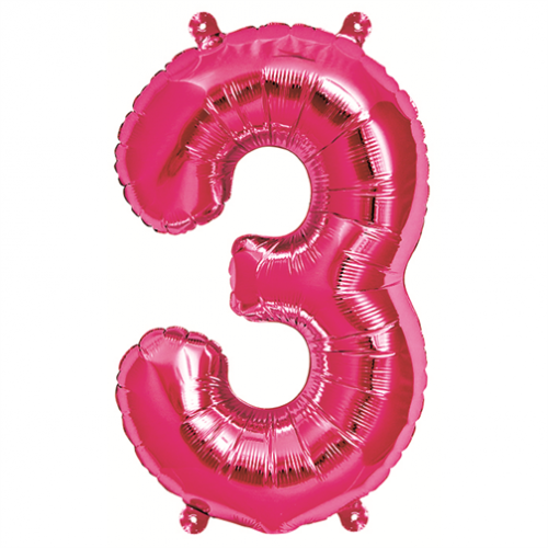Northstar Sifferballong 3, rosa