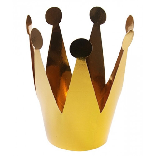 Krona i papper, guld, 3 st
