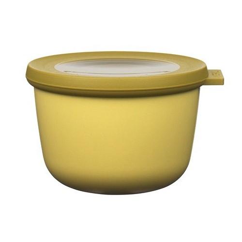 Rosti Mepal Skål med lock Cirqula, 0,5 l, senapsgul
