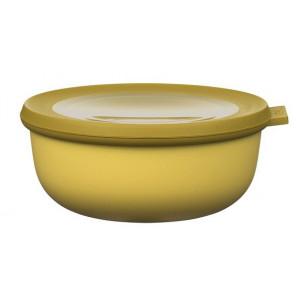 Rosti Mepal Skål med lock Cirqula, 0,75 l, senapsgul