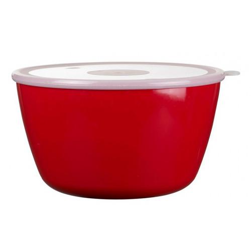 Rosti Mepal Skål med lock 3 l, Volumia, Röd