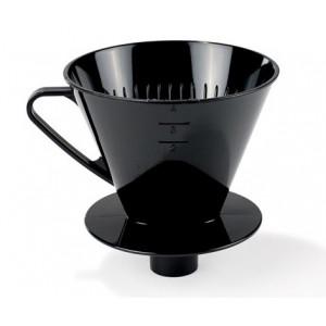 Kaffetratt m rör svart PP