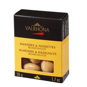 Valrhona Mandel och Hasselnötter Dulcey, 50 g