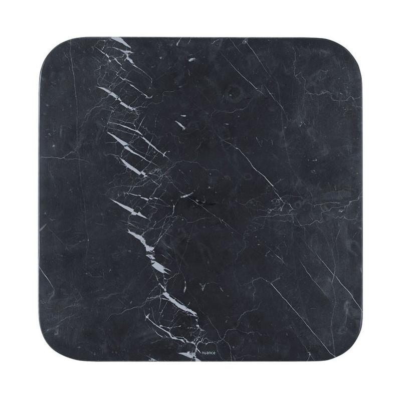Nuance Serveringsfat 30 x 30 Svart marmor
