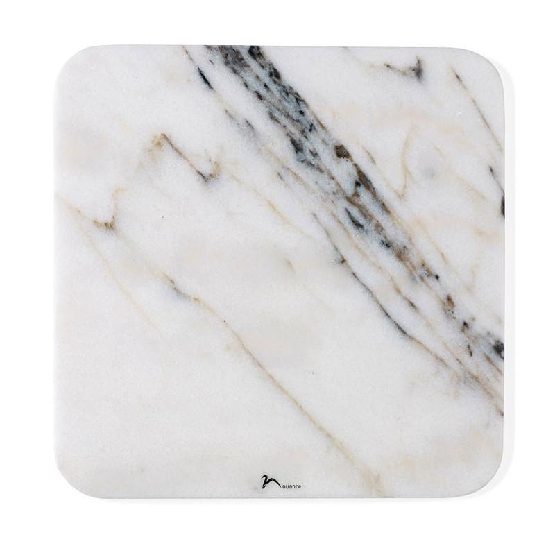 Nuance Serveringsfat 30 x 30 Vit marmor