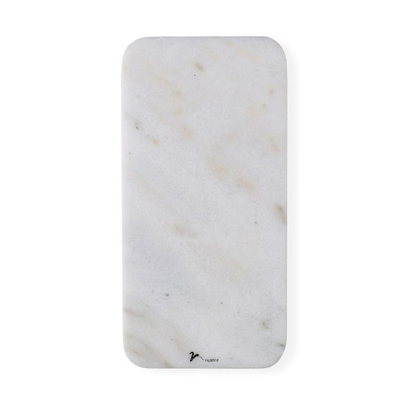 Nuance Serveringsfat 30 x 15 Vit marmor