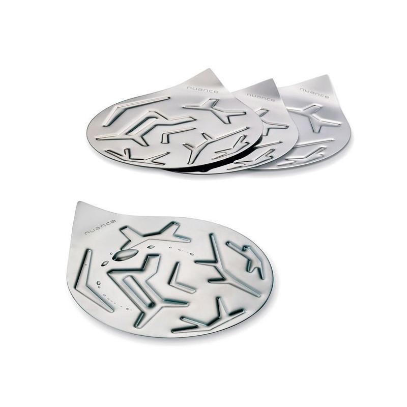 Nuance Glasunderlägg 4-pack, rostfritt stål