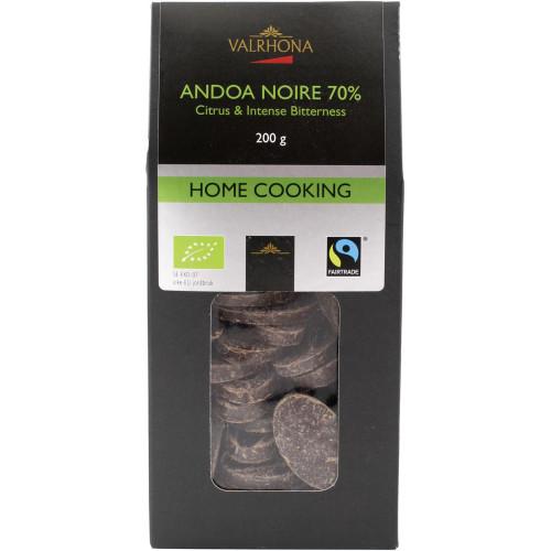 Valrhona Choklad Andoa Noire 70%, 200 g, Eko