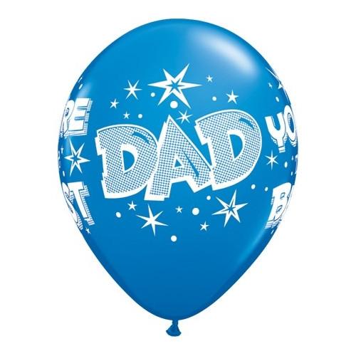 Qualatex Ballonger Dad you're the best, blå