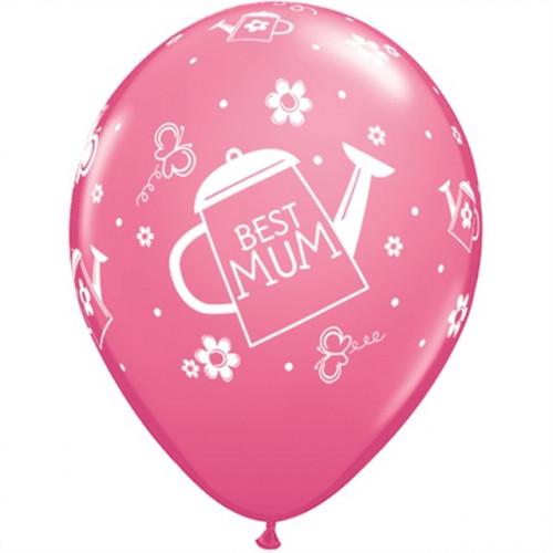Qualatex Ballonger Best Mum, rosa