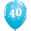Qualatex Ballonger Födelsedag 40, blåa