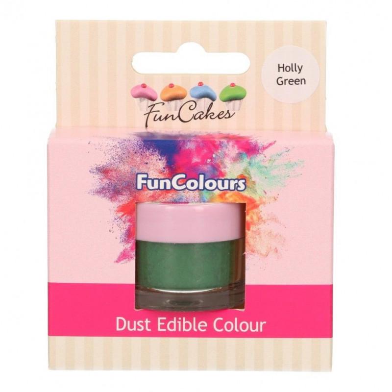FunCakes Pulverfärg Holly Green
