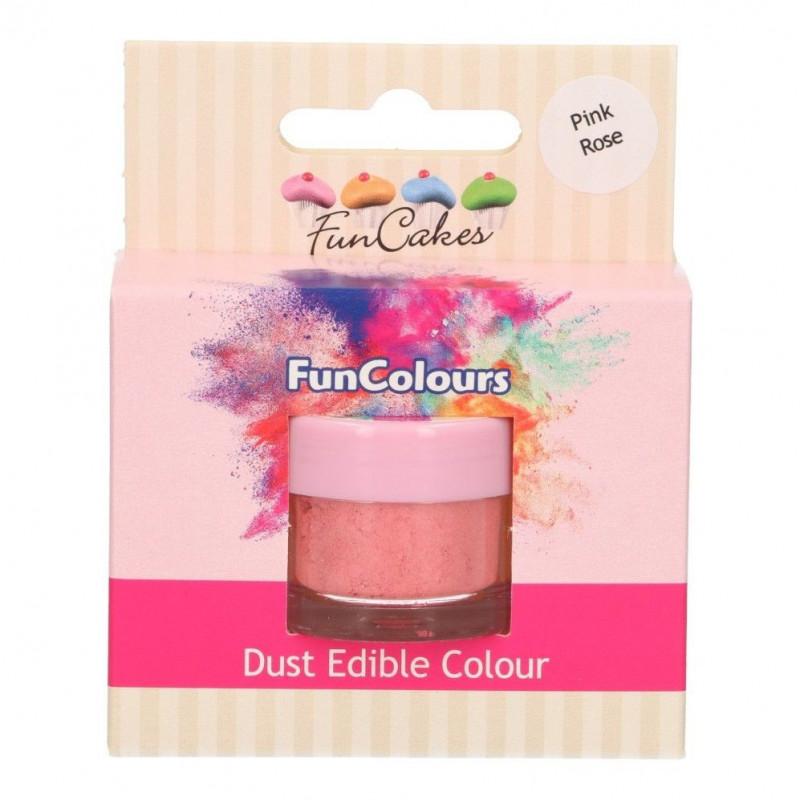 FunCakes Pulverfärg Pink rose, rosa