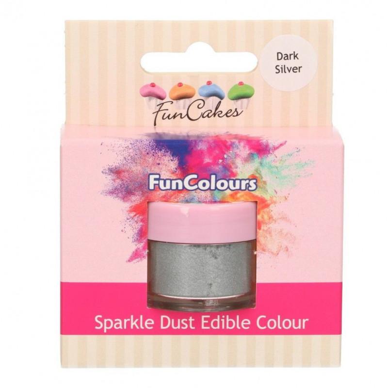 FunCakes Skimrande Pulverfärg Silver