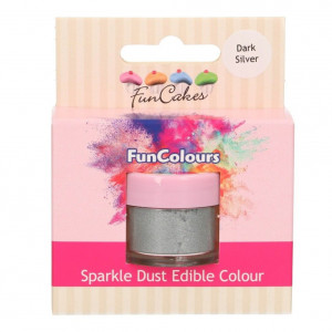 FunCakes Skimrande Pulverfärg Dark Silver