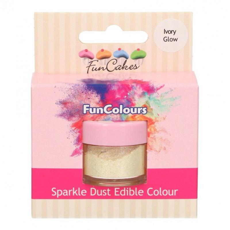 FunCakes Skimrande Pulverfärg Ivory Glow