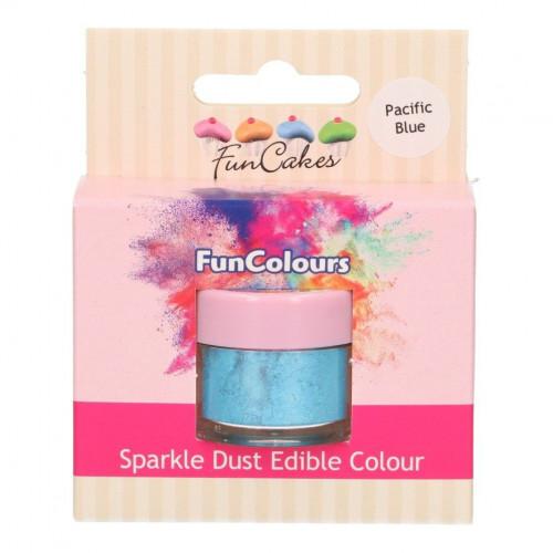 FunCakes Skimrande Pulverfärg Pacific Blue, ljusblå