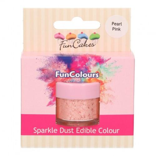 FunCakes Skimrande Pulverfärg Pearl Pink, rosa