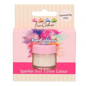 FunCakes Skimrande Pulverfärg Shimmering Pink