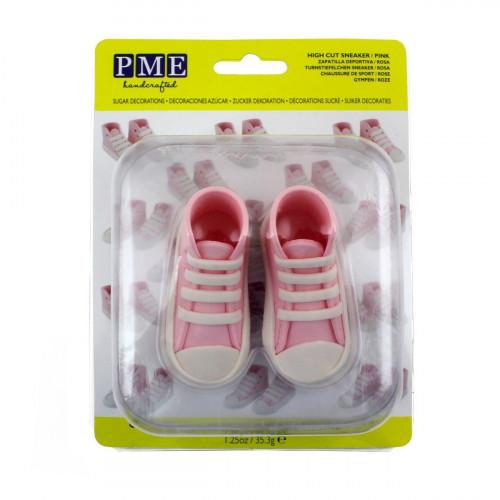 PME Tårtdekoration Ätbara Sneakers, rosa
