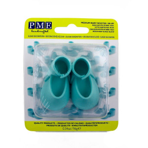 PME Tårtdekoration Ätbara babyskor mini, blåa