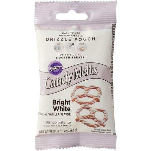 Wilton Candy Melts Drizzle Pouch, vita, 56 g