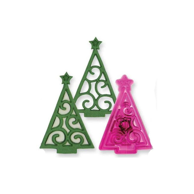 JEM Utstickare Christmas Tree Scroll, julgran