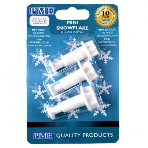 PME Utstickare Snöflingor, mini, 3 st