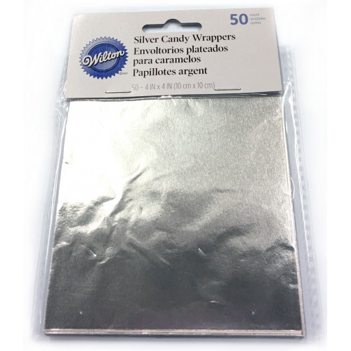 Wilton Candy Wrappers Godispapper, Silver