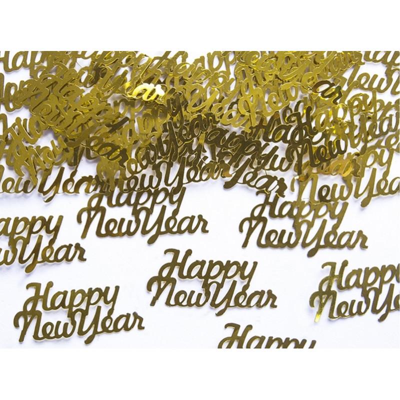 PartyDeco Konfetti Happy new year