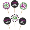 PartyDeco Cupcake Toppers 30th Birthday