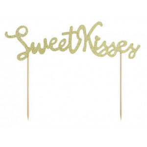 PartyDeco Cake Topper Sweet Kisses