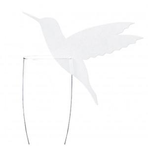 PartyDeco Dekorationer till glas, kolibri