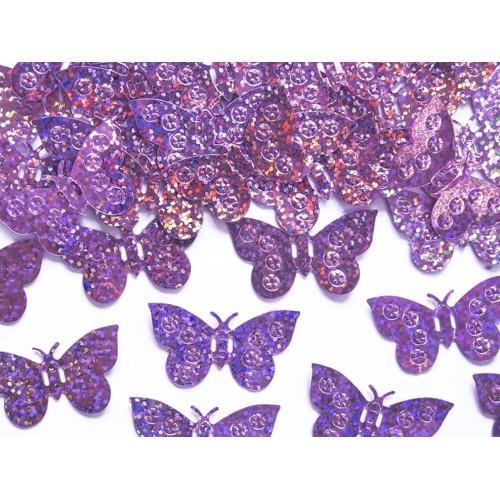 PartyDeco Konfetti Fjärilar, ljusrosa