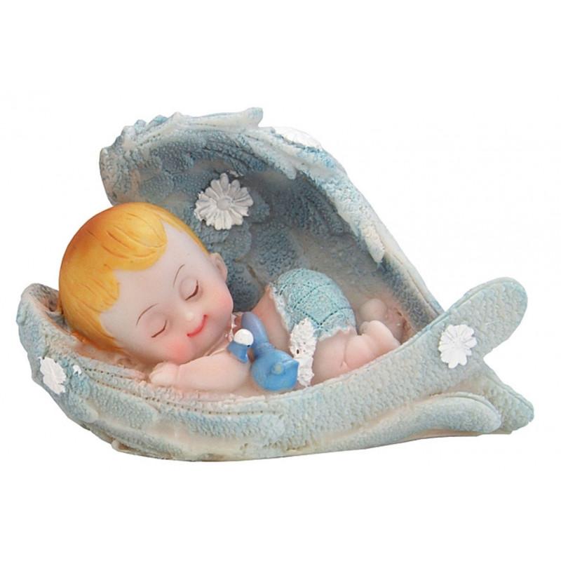 PartyDeco Tårtdekoration Baby i vingar, blå