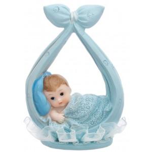 PartyDeco Tårtdekoration Baby, blå
