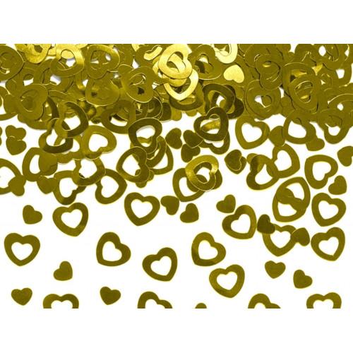 PartyDeco Konfetti Hjärtan, 2 olika, guld