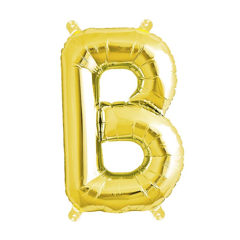 Northstar Bokstavsballong B, guld