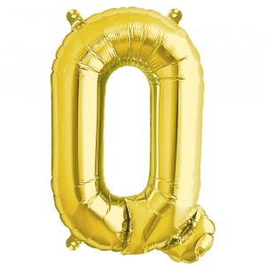 Northstar Bokstavsballong Q, guld