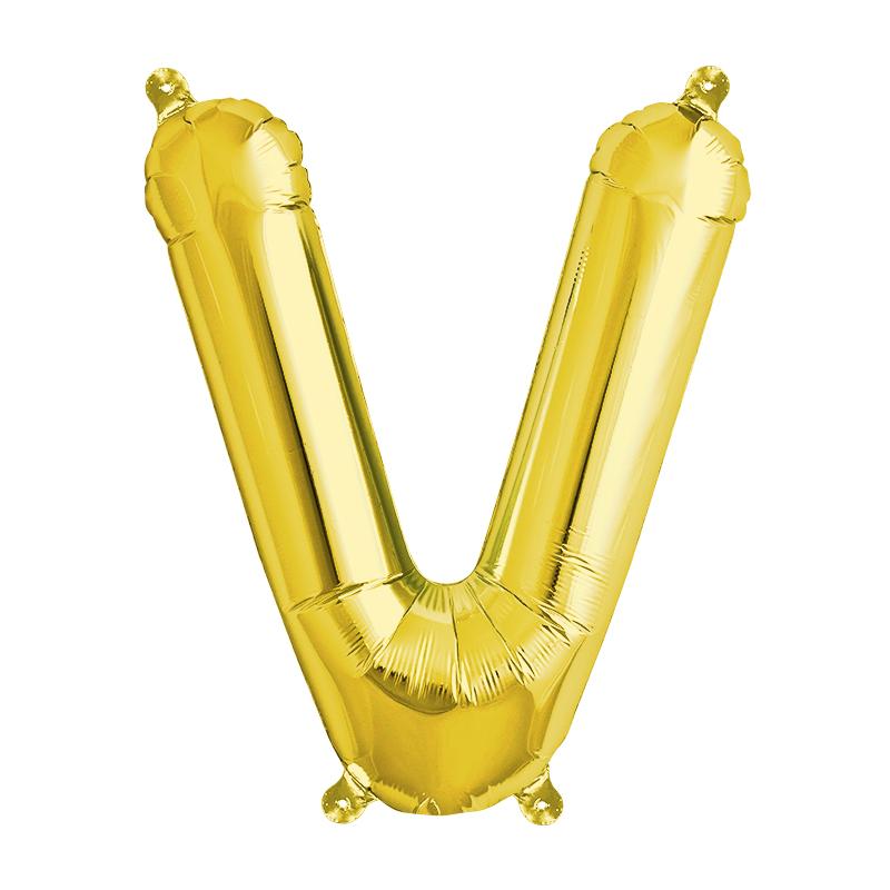 Northstar Bokstavsballong V, guld