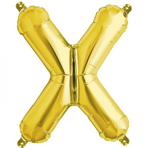 Northstar Bokstavsballong X, guld