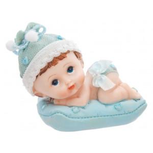 PartyDeco Tårtdekoration Baby på kudde, blå