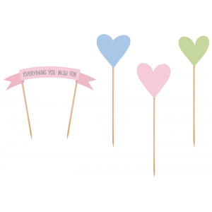 PartyDeco Cake Toppers Everything you wish for