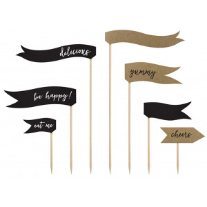 PartyDeco Cake Toppers Flaggor