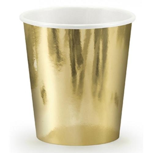 PartyDeco Pappersmuggar, guld