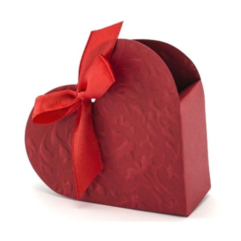 PartyDeco Presentaskar Hjärta, röd