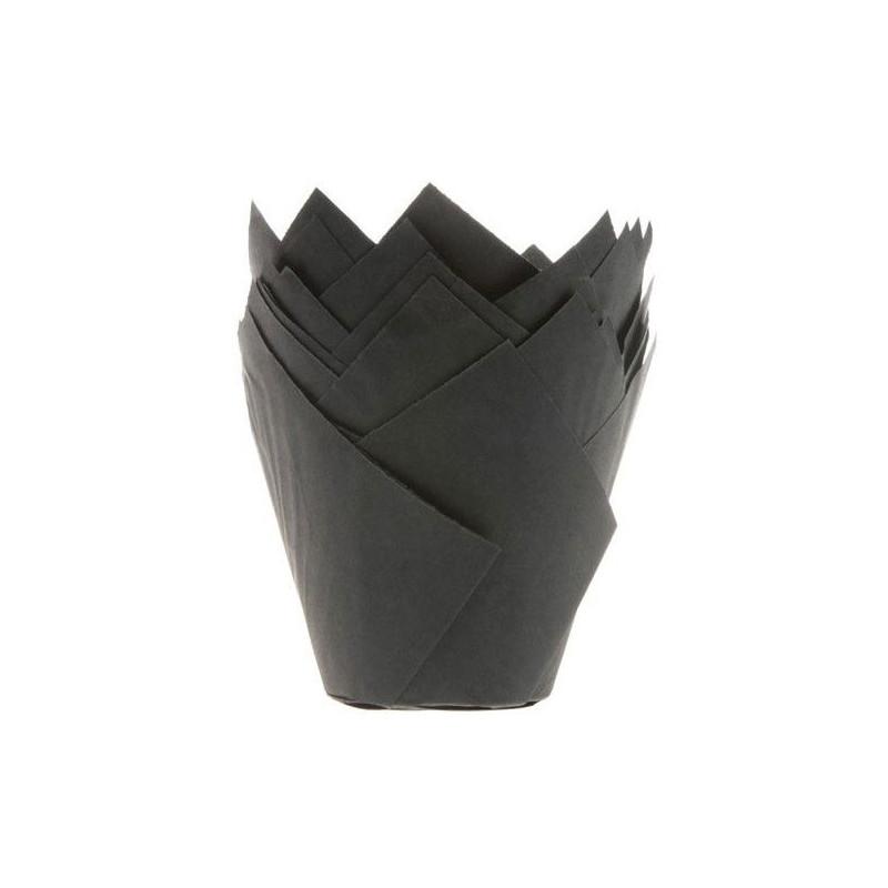 House of Marie Muffinsform Tulip, svart