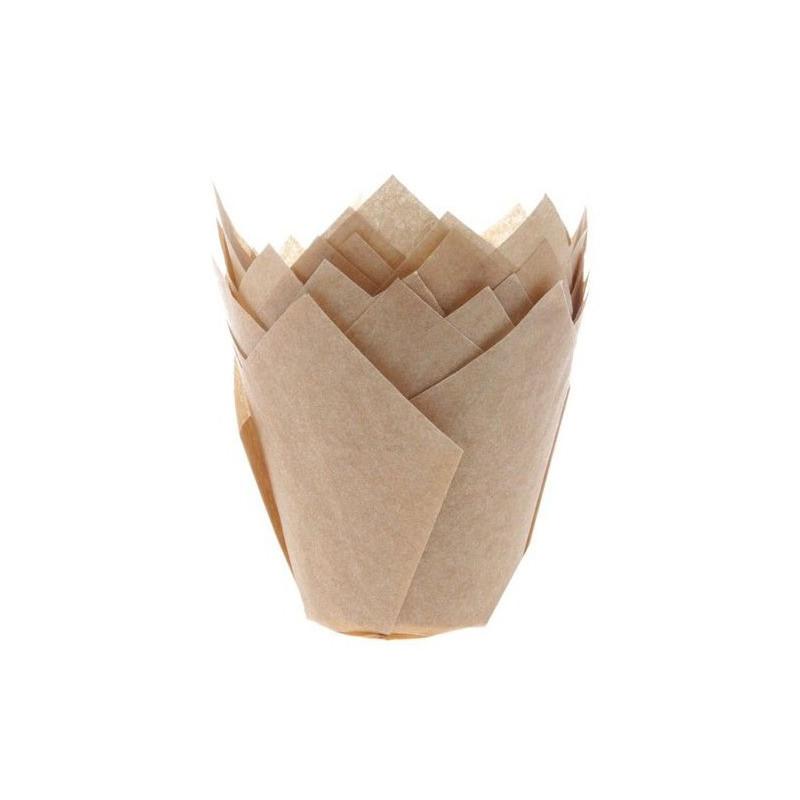 House of Marie Muffinsform Tulip, ljusbrun