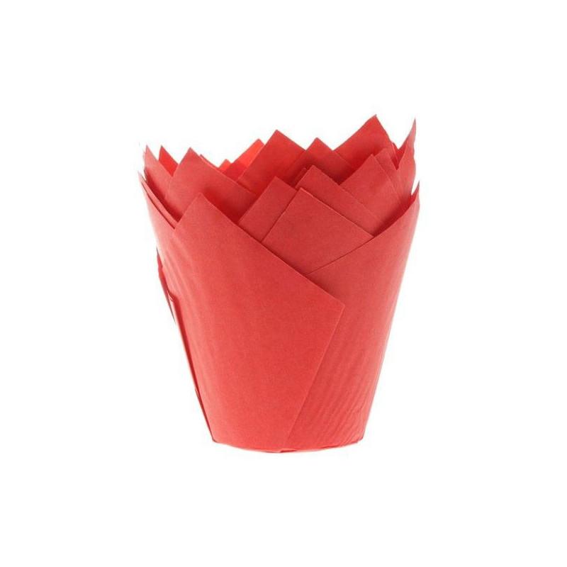 House of Marie Muffinsform Tulip, röd